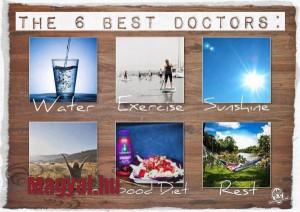 Hat dolog amire szüksége van a testünknek.