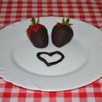 Eper csokoládéba mártva