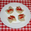 Laskagomba krémes mini szendvics