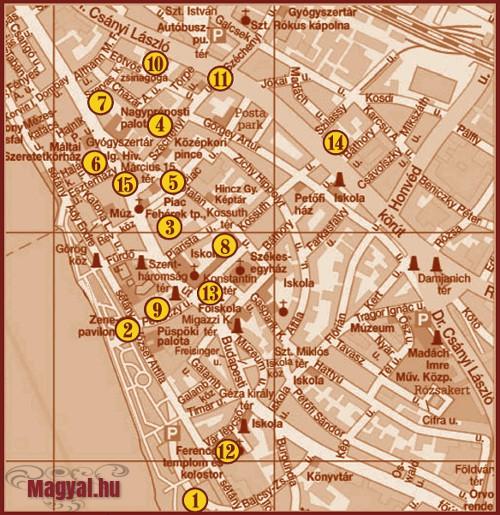 XXII. Váci Világi Vigalom térkép