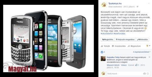 Okos telefon és én