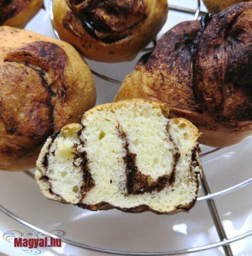 Fagyasztott csigák sütés után